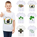 Boys T-Shirts,Clover Print Kids Wild Tops,St. Patrick's Day Memorial Clothing Boy Tee 2~6 Years Old(A,90)