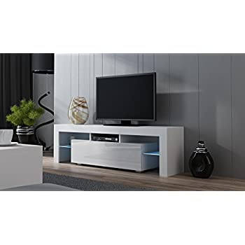 TV Stand MILANO 160 White   Modern LED TV Cabinet   TV Console Fit For Up Part 15