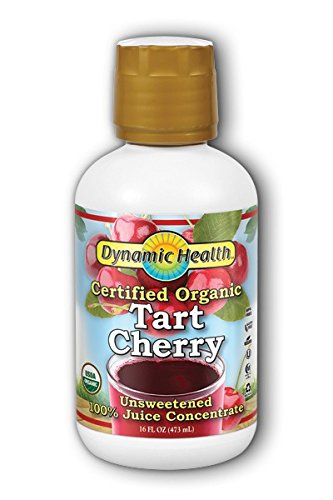 Dynamic Health 100% Pure Organic Certified Tart Cherry Juice Concentrate, 16-Ounce (Pack of 2) (Best Juice For Health)