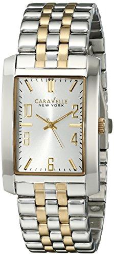Caravelle New York Men's 45A123 Analog Display Analog Quartz Two Tone Watch