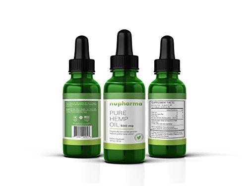 Pure Hemp Oil 500 Hemp Extract with 500 mgs helps with Anxiety, Chronic Pain, Sleep, Mood, Skin and Hair utilizing liquid Hemp Extract oil drops