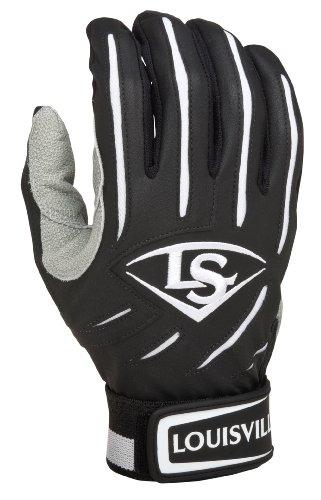 Louisville Slugger BG Series 5 Batting Glove, Black, Medium