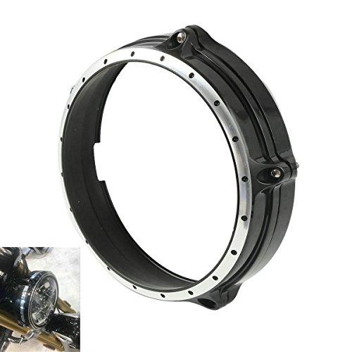 "Motorcycle 7"" Headlight Bezel Trim Ring For BMW R Nine T 2014-2017 Aluminum"
