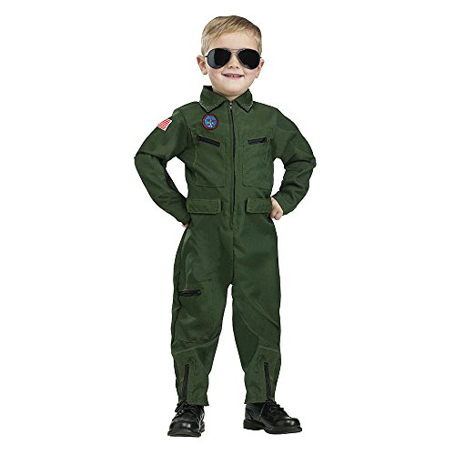 Fun World Costumes Baby Boy's Topgun Aviator Toddler Costume, Green, X-Large