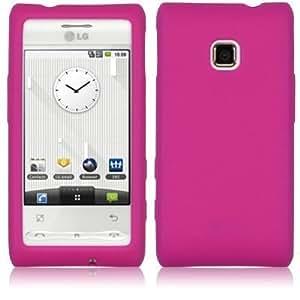 Silicona Caso Cubrir Concha Y Protector De Pantalla Para LG Optimus GT540 / Pink