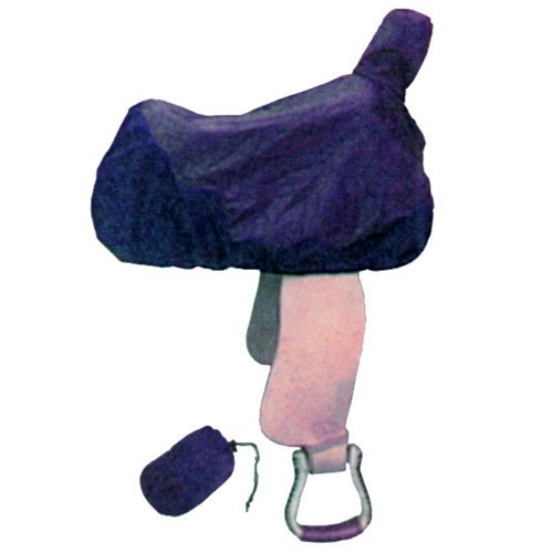 Intrepid International Western Nylon Saddle Cover with Tote, Navy ()