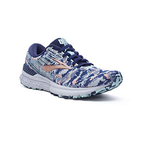 Brooks Womens Adrenaline GTS 19 Running Shoe - Navy/Coral/Ice - B - 13.0