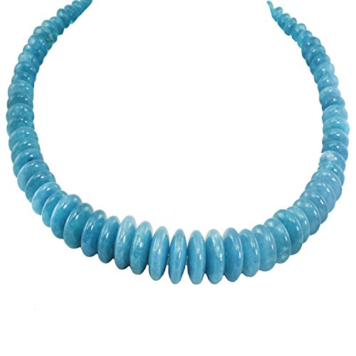 Michael Valitutti Palladium Silver Milky Aquamarine & Blue Sapphire Graduated Beaded Toggle Necklace
