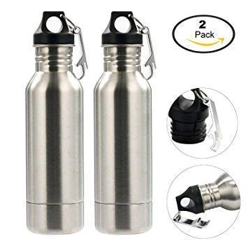 Beer Bottle Insulator, Stainless Steel Beer Bottle Insulator (2 Pack) Keeps Beer Colder With Opener/Beer Bottle Holder For Outdoor or Party … (Silver) by Starimac (Image #6)