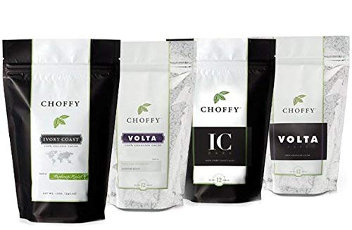 Choffy, Premium Variety Set, Brewed Chocolate, Cocoa, Medium, Dark Roasts - Four 12oz. Bags