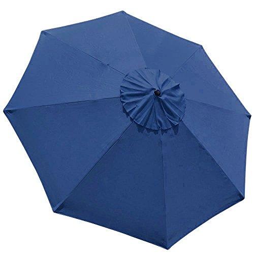 Shade Eliteshade 9feet Replacement Patio Umbrella Cover 9feet Market Table Outdoor Umbrella Canopy 8 Ribs (Navy Blue)