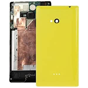 Smooth Surface Plastic Back Housing Cover Replacement for Nokia Lumia 720 (Yellow)