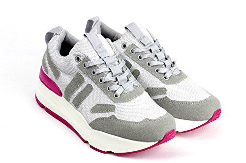 Damen Schnürer Damen Sneaker Mode Flache Schuhe Sneakers Fitnessstudio Pumps - Rot, 3 UK / 40 EU