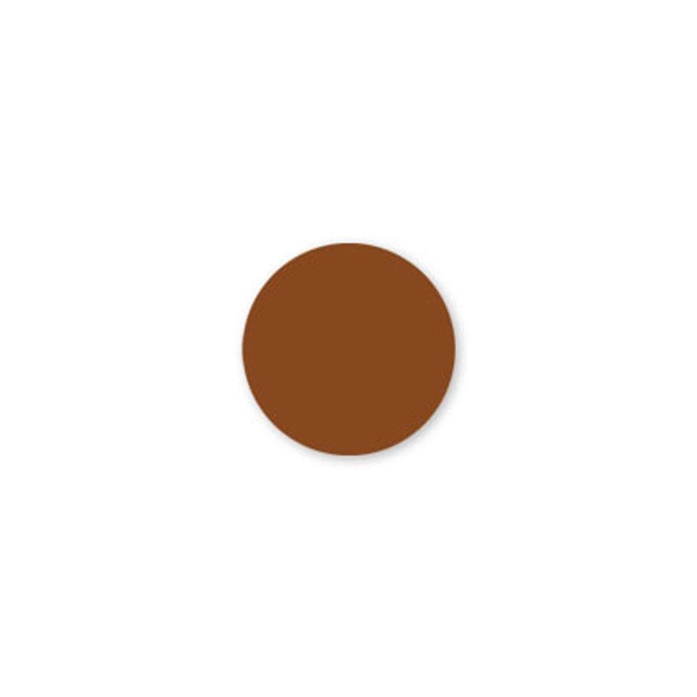 DayMark 112504 Solid Brown 3/4'' Round Label - 2000 / RL