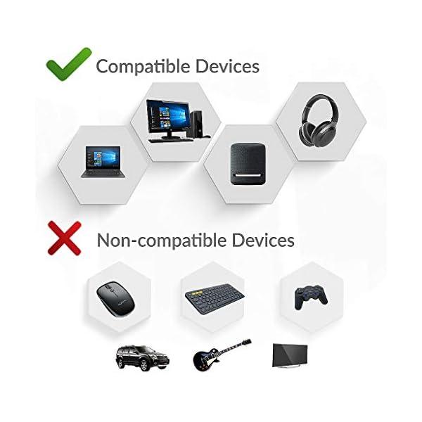 Avantree DG60 Adaptateur Audio Longue Portée USB Bluetooth 5.0 pour PC PS4 Mac, Dongle Clé Bluetooth pour Casque, Son…