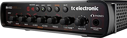 TC Electronic RH450 450W Bass Amp Head with TubeTone, SpectraComp, Onboard Tuner and Presets by TC Electronic