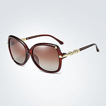 Easy Go Shopping Gafas de Sol polarizadas para Mujer Gafas de Sol ovaladas Mariposa Marco Gradiente
