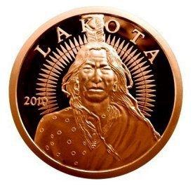 Lakota .999 Pure Copper Medallion