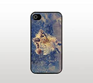 Kobe Bryant Black Mamba iPhone 4 4s Case - Hard Plastic Snap-On Custom Cover - Black - Basketball