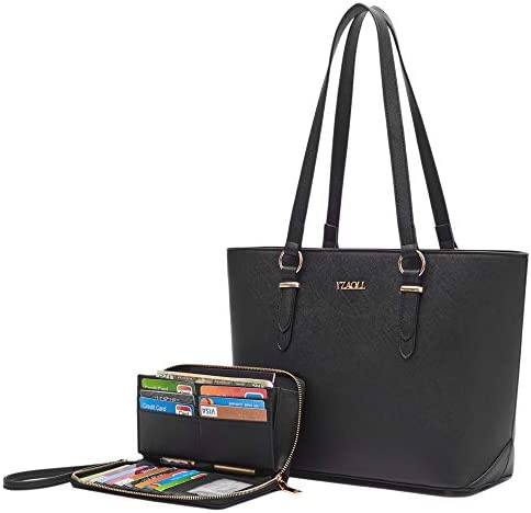 Purses and Wallet set for Women Work Tote Handbags Shoulder Bag Top Handle Totes Purse with matching Wallet