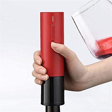 Adesign Exportador de vinos eléctricos Recargables de sacacorchos USB abrelatas de Botella de Botellas Can PROPECEABLE para LA Barra DE Papel (Color : Black)