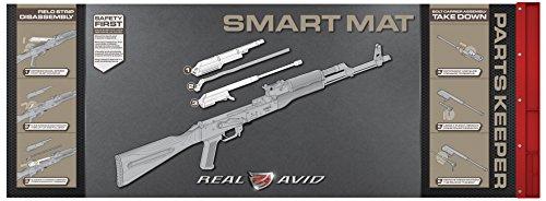 "(Real Avid 7.62 Smart Mat - 43x16"", 7.62MM Rifle Gun Cleaning Mat, Red Parts Tray)"
