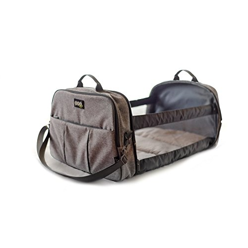 Bizzi Growin Pod Travel Changing Bag - Changing Bag that Converts in to a Baby Travel Cot - Melange Grey