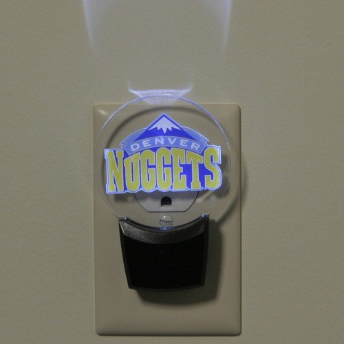 Authentic Street Signs NBA Officially Licensed-LED NIGHT LIGHT-Super Energy Efficient-Prime Power Saving 0.5 watt-Plug In-Great Sports Fan gift for Adults-Babies-Kids Room (Denver Nuggets)
