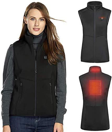 QSs-Ⓡ USB Heizweste - wiederaufladbare Weste elektrische Weste Kälteschutz warme Kleidung geeignet für Ski Motorrad Jagd Camping Angeln