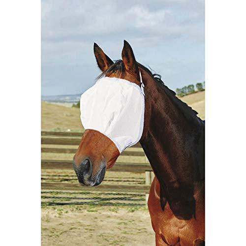 Roma Buzz Away Fly Mask With Fleece (Warmblood) (White) ()