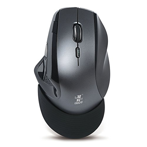 97e1ae06fc1 Wireless Vertical Mouse, iXCC Wireless 2.4G 9-Button Ergonomic Optical Mouse,  DPI
