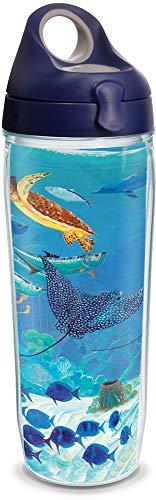 Tervis 1315949 Guy Harvey - Ocean Scene Insulated Tumbler with Wrap & Lid, 24oz Water Bottle - Tritan, Clear ()