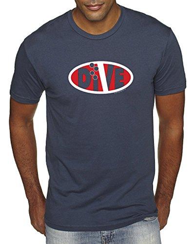 LIFE IS BALANCE Dive Oval Scuba Diving Short Sleeve T-Shirt-Large-Indigo