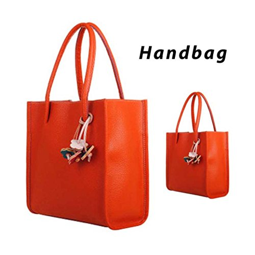 Satchel Tote Handbag Faionny Bag Handbag Orange Purse Bags Woman Hobo Messenger Coin Shoulder Purse q8txT