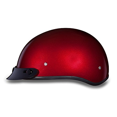 cycle Half Helmet with Visor (Size 3XL, XXX-Large) (Metallic Dot Helmets Motorcycle)