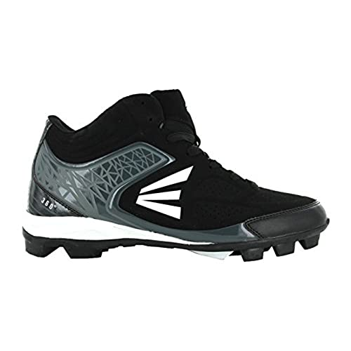 Easton 360 Mid Senior Baseball Cleats - Black/Charcoal