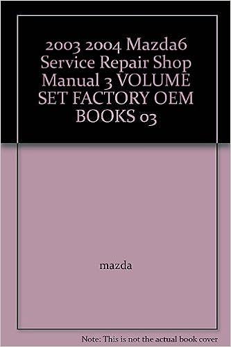user manual for 2003 mazda 6
