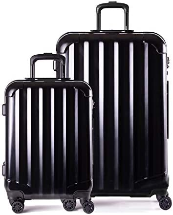 Genius Pack Hardside Luggage Spinner – Smart, Organized, Lightweight Suitcase 2 Piece Set 21 29 – Supercharged Jet Black