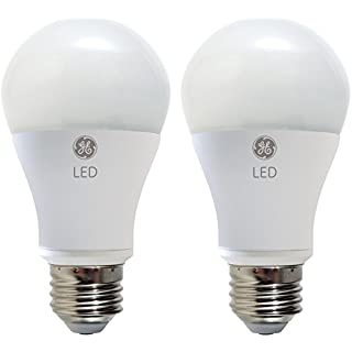 GE Lighting 67591 Dimmable LED A19 Light Bulb with Medium Base, 9-Watt, Soft White, 2-Pack