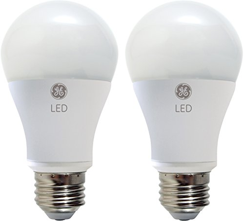 GE Lighting 25037 LED 11-Watt (60-watt replacement), 800-Lumen A19 Bulb with Medium Base, Soft White, 2-Pack