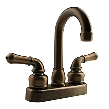 Dura Faucet (DF-PB150C-SN) Classical RV Bar Faucet - 6' Tall Spout - Brushed Satin Nickel Finish - For Recreational Vehicles, Campers, Travel Trailers, Motorhomes and 5th Wheels DFPB150CSN