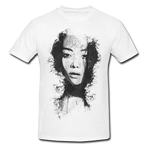 Li Xiao Xing T-Shirt Herren, weiß mit Aufdruck