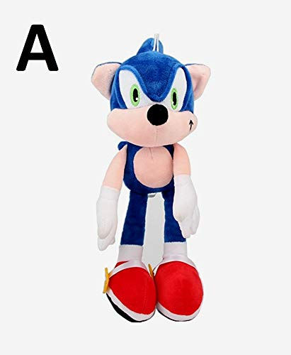 PAPRING Sonic Boom Toys 11 inch Animation Big Plush Huggable Toy Large Stuffed Gift Christmas Halloween Birthday Gifts Cute Doll Animal New Decoration Collection Collectible for Kids Baby (A)