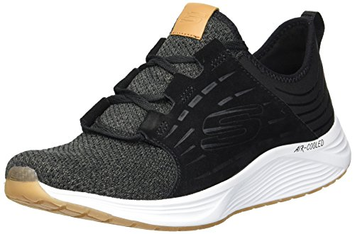 Bkw White Skechers Suede Laced Skyline Black 06waqtw