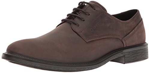 ECCO Men's Knoxville Plain Toe Gore-Tex Oxford, Mocha, 41 EU/7-7.5 M US Ecco Plain Toe Oxfords