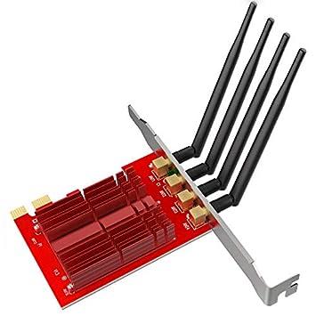 EDUP EP-9609 Dual Band 1900Mbps Wireless PCI Express WiFi Adaptador 4 * 5dBi Antenas Escritorio Wi-Fi PCI-E Tarjeta de Red Win 7/8.1/10