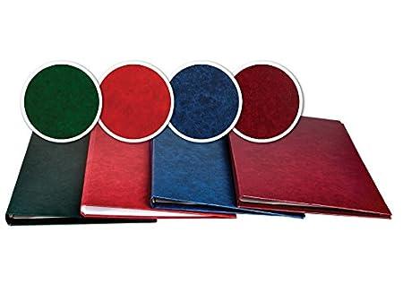 Buchbindemappen, Thermo Bindemappe, Hardcover Thermobindemappen Diplomat Style (3mm / 15 - 26 Blatt, dunkelblau) FALAMBI