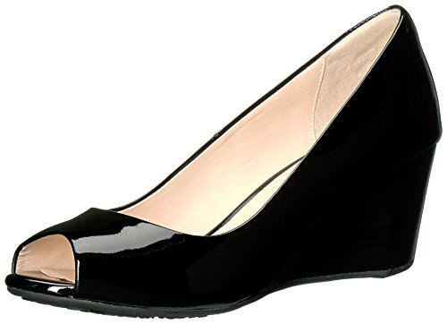 Patent Pumps Sadie Open Black Wedge Haan Women's Toe Cole ZqR8SwY