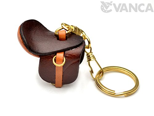 Saddle Leather Horse/Equine Goods KH Keychain VANCA CRAFT-Collectible keyring Made in Japan