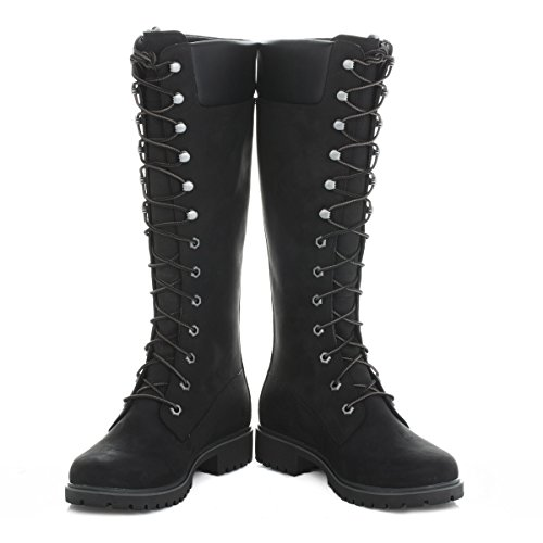 Timberland Damen Schwarz Premium 14 Inch Boots-UK 4.5